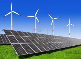 solar panel - wind generator - solar power - wind power - renewable energy
